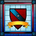 Family crest stained glass coat of arms or window Stock Images