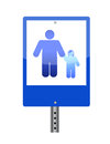 Family crossing sign Stock Photo