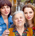 Family - daughter granddaughter and grandmother Royalty Free Stock Image
