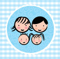 Family design over blue background vector illustration Stock Photography