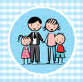 Family design over blue background vector illustration Stock Photos