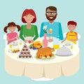 Family dinner table.