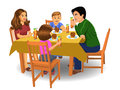 Family dinner vector on a white background Stock Image