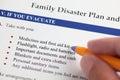 Family Disaster Plan Royalty Free Stock Photo