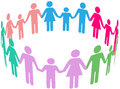 Family diversity social community people group of diverse families join together in circle holding hands Stock Photography