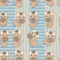 Family Donkey Square Seamless Pattern_eps Royalty Free Stock Image