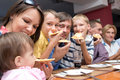 Family eating pizza Royalty Free Stock Photo