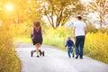 Family enjoying life together outside Royalty Free Stock Photo