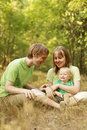 Family enjoying summer nature Royalty Free Stock Photo