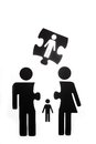 Family figure with children cut out Royalty Free Stock Photo