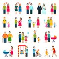 Family Figures Icons Royalty Free Stock Photo