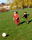 Family football fun Royalty Free Stock Photo