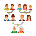 Family genealogy tree diagram chart Royalty Free Stock Photo