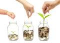 Family go green saving Royalty Free Stock Photo