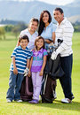 Family of golf players Stock Photography