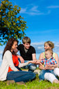 Family - Grandmother, mother, father and children Royalty Free Stock Image