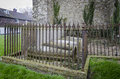 Family graves in churchyard monumental enclosure an english with tombstones Royalty Free Stock Photo