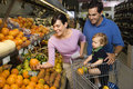 Family grocery shopping. Stock Photos