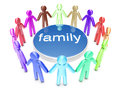 Family a group of icon people standing in a circle Royalty Free Stock Images