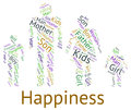 Family happiness shows blood relative and cheerful representing joy Royalty Free Stock Photography