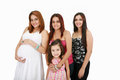 Family happy sisters and daughter Royalty Free Stock Images