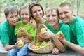 Family having picnic Royalty Free Stock Photo