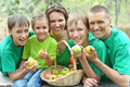 Family having picnic Royalty Free Stock Photo