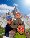 Family on hike Royalty Free Stock Image