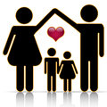 Family home Royalty Free Stock Images