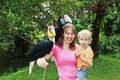 Family with hornbills Royalty Free Stock Image