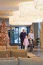Family in the hotel Royalty Free Stock Photo