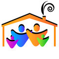 Family house logo Royalty Free Stock Photos