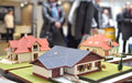 Family houses architectural models exposition Stock Photography