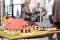 Family houses architectural models exposition Royalty Free Stock Photos