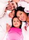Family hug loving isolated over a white background Stock Images