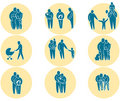 Family icon set Stock Images