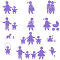 Family icon. set Royalty Free Stock Images