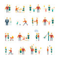 Family icons set flat Royalty Free Stock Photo