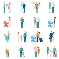 Family Icons Set Royalty Free Stock Photo