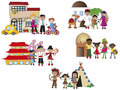 Family illustration of different isolated Royalty Free Stock Photo
