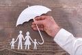 Family insurance concept Royalty Free Stock Photo