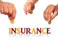 Family insurance concept isolated over white Stock Photos