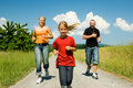 Family jogging Royalty Free Stock Photo