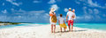 Family with kids on beach vacation Royalty Free Stock Photo