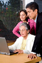 Family on a laptop Royalty Free Stock Image