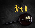 Family law split Royalty Free Stock Photo
