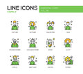 Family - line design icons set Royalty Free Stock Photo