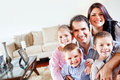 Family in the living room Royalty Free Stock Photo