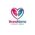 Family love hands logo vector Royalty Free Stock Photo