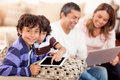 Family loving technology Stock Photography